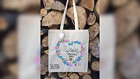 Nákupné tašky - ♥ Plátená, ručne maľovaná taška ♥ (MI27) - 9502948_