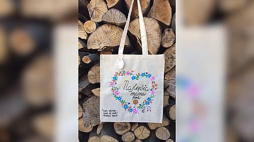 ♥ Plátená, ručne maľovaná taška ♥ (MI27)