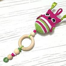 Hračky - SOVIČKA HUHU - hračka na kočík (ružová) - 9500183_