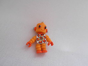 Kľúčenky - kľúčenka robot oranžový - 9503121_