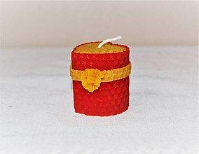 Svietidlá a sviečky - Srdiečková sviečka s kvetinkou v krabičke (s čerešňovým kvetom) - 9503084_