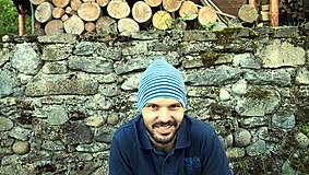 Iné oblečenie - Merino čiapka celoročná dospelák - v 4 farbách (Modrá) - 9500797_