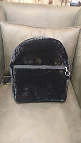 Batohy - Čierny semišový (backpack) batoh s jemným vzorom - 9499822_