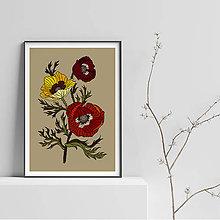 Grafika - Botanika - Anemone - Art print - 9500718_