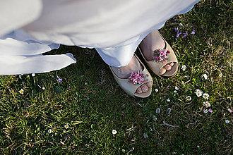 """Obuv - Kvetinové klipy na topánky """"viac než môžem"""" - 9500398_"""