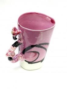 Nádoby - šálka XXL plameniak ružový - 9500866_