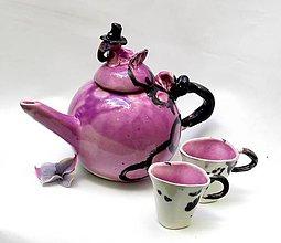 Nádoby - čajník plameniak ružový - 9500910_