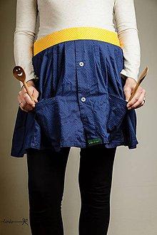 Iné oblečenie - Zástera košeláčka - modro-žltá bodkovaná - 9499231_