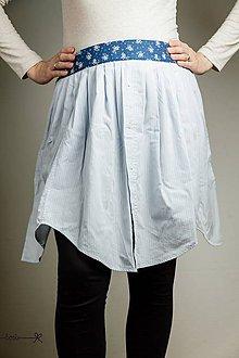 Iné oblečenie - Zástera košeláčka - nežná modrá - 9499243_
