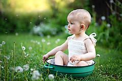 Detské oblečenie - Háčkované body  - 9503218_
