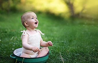 Detské oblečenie - Háčkované body - 9503220_