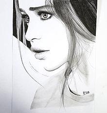 Kresby - Portrét - Emilia Clarke - Minimalizmus - 9503723_