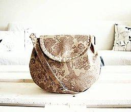 Kabelky - Malá režná kabelka - ornamenty v olivovej - 9503925_