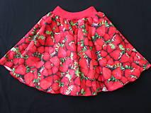 """Detské oblečenie - Sukňa """"jahody"""" - 9505205_"""