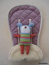 MERINO podložka do kočíka BUGABOO Bee / Buffalo/ Cameleon/ Donkey/ Joolz 100% WOOL Seat Liner Lilac pastelová fialová levanduľová