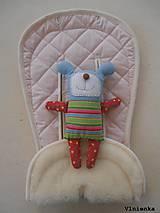 MERINO podložka do kočíka BUGABOO Bee / Buffalo/ Cameleon/ Donkey/ Joolz 100% WOOL Seat Liner Soft pink pastelová jemne ružová