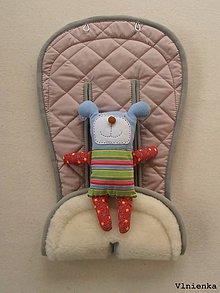 Textil - MERINO podložka do kočíka BUGABOO Bee / Buffalo/ Cameleon/ Donkey/ Joolz 100% WOOL Seat Liner Dusty pink and Grey staroružová - 9504053_