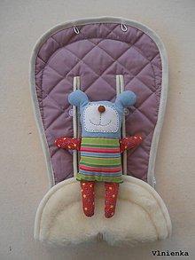 Textil - MERINO podložka do kočíka BUGABOO Bee / Buffalo/ Cameleon/ Donkey/ Joolz 100% WOOL Seat Liner Lilac pastelová fialová levanduľová - 9504115_