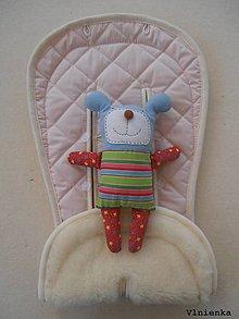 Textil - MERINO podložka do kočíka BUGABOO Bee / Buffalo/ Cameleon/ Donkey/ Joolz 100% WOOL Seat Liner Soft pink pastelová jemne ružová - 9504154_