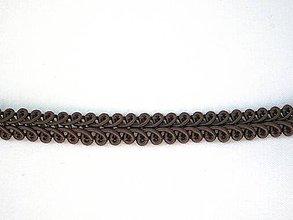 Galantéria - Prámik hnedý š. 10 mm - 9503987_