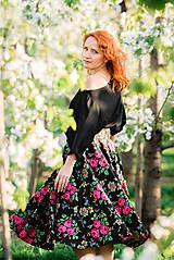 Sukne - MARÍNA - kruhová kvetinová sukňa - 9504108_