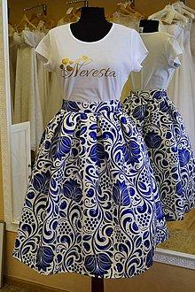 Sukne - Saténová sukňa skladaná folk - 9505596_