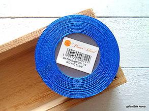 Galantéria - saténová stuha 6mm (tm.modrá) - 9503753_
