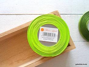 Galantéria - saténová stuha 6mm zelené jablko - 9506282_