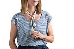 Náhrdelníky - White rope bubble - 9506919_