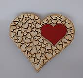 Tabuľky - Drevené srdce - 9503559_