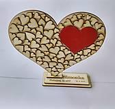Drevené srdce (srdiečko na gravírovanom stojane)