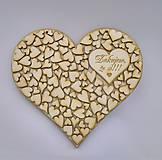 Tabuľky - Drevené srdce - 9504894_