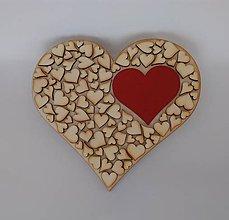 Tabuľky - Drevené srdce (srdiečko na zavesenie) - 9503560_