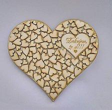Tabuľky - Drevené srdce (srdiečko
