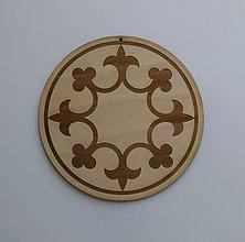 Tabuľky - Ľaliový kruh (priemer kruhu 18 cm) - 9505255_