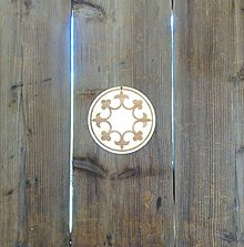 Tabuľky - Ľaliový kruh (podšálka 9,5 cm) - 9505279_