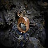 Prstene - Drevený prsteň: Kdesi v lese - 9505454_