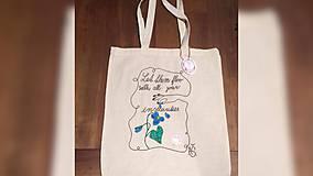 Iné tašky - ♥ Plátená, ručne maľovaná taška ♥ - 9503539_