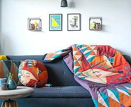 Úžitkový textil - Prikrývka Sleeping Foxy - 9505183_