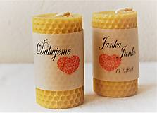 Darčeky pre svadobčanov - Voňavé svadobné menovky - 9503886_