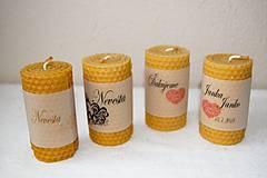 Darčeky pre svadobčanov - Voňavé svadobné menovky - 9503889_