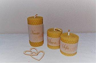 Darčeky pre svadobčanov - Voňavé svadobné menovky - 9503914_