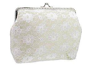 Kabelky - Dámská čipková kabelka bielo ivory 0835A - 9506703_