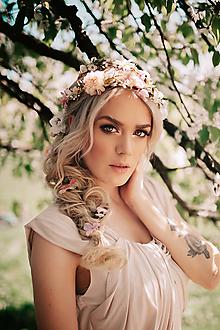 Ozdoby do vlasov - Sada vláseniek - ružová, béžová, zlatá, biela - 9503269_