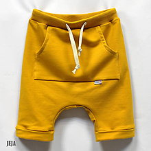 Detské oblečenie - Žlté krátke pudláče - 9506775_