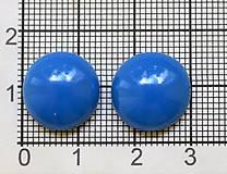 Komponenty - Sklené kabošóny, modré - 9505350_