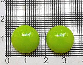 Komponenty - Sklené kabošóny, limetkovo zelené - 9505328_