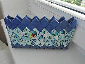 Taštičky - Modrá motýlikmi na drobnosti...:) - 9504937_