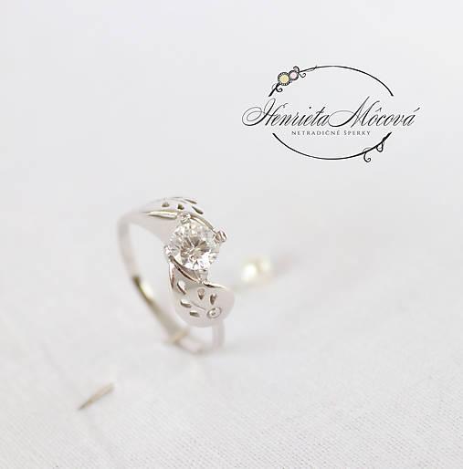 Prstene - folk zásnubný prsteň Trnava - mini - 9503781_