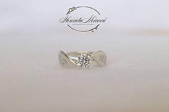 Prstene - folk zásnubný prsteň Nitra - midi - 9505259_